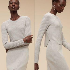 Aritzia Babaton Nathaniel Cropped Sweater